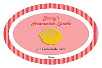 Happy-70s Candle Label Oval