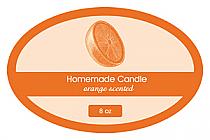Orange Zest Candle Label Oval