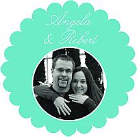 Memorable Scalloped Circle Wedding Labels