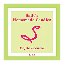 Mojito Square Candle Labels