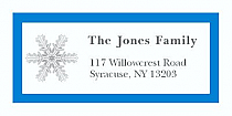 "Custom Snowflakes Christmas Address Labels 2"" x .875"""