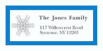 "Custom Snowflakes Christmas Address Labels 2"" x .875"""