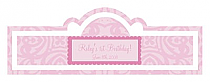 Powder Pink Baby Billbord Cigar Band Labels