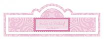 Powder Pink Baby Billbord Cigar Band Labels