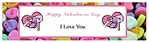 Simple Border Valentine Water bottle Labels 7x1.875