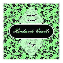 Floral Square Candle Labels