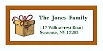 "Present Christmas Address Labels 2"" x .875"""
