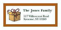 "Present Christmas Address Labels 2"" x .875"""