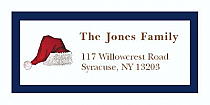 "Hat Christmas Address Labels 2"" x .875"""