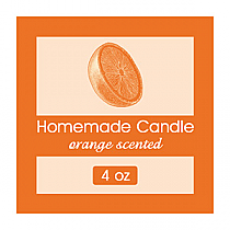 Orange Zest Small Square Candle Labels