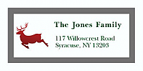 "Reindeer Christmas Address Labels 2"" x .875"""