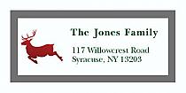 "Reindeer Christmas Address Labels 2"" x .875"""