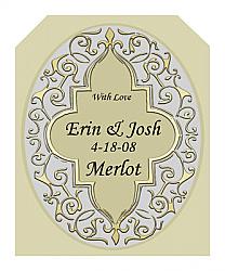 Romanticism Wine Wedding Labels