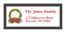 "Custom Christmas Wreath Address Labels 2"" x .875"""