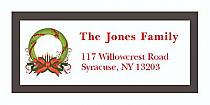 "Custom Christmas Wreath Address Labels 2"" x .875"""