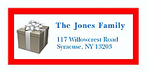 """Small Present Christmas Address Labels 2"""" x .875"""""""