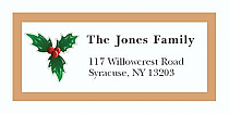 "Christmas Mistletoe Christmas Address Labels 2"" x .875"""