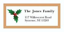 "Christmas Mistletoe Christmas Address Labels 2"" x .875"""