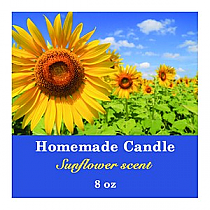 Photo with Text Square Candle Labels