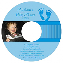 CD Baby Footprints Labels 4.625x4.625