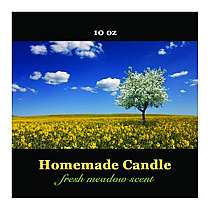 Fresh Meadow Square Candle Labels