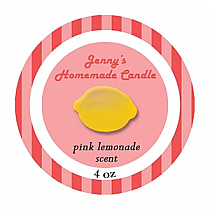 Happy-70s Small Circle Candle Labels