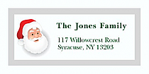 "Old Santa Christmas Address Labels 2"" x .875"""