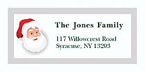 "Old Santa Christmas Address Labels 2"" x .875"""