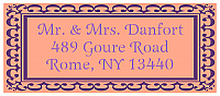 Monarch Designed Address Bridal Shower Labels