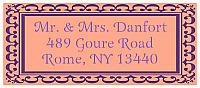 Monarch Designed Address Bridal Shower Labels