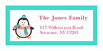 "Penguin Christmas Address Labels 2"" x .875"""