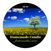 Fresh Meadow Circle Candle Labels