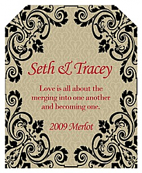 Ornament Rectangle Wedding Label