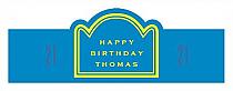 Simple Age Birthday Billboard Cigar Band Labels