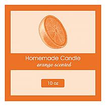 Orange Zest Big Square Candle Labels