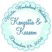 Winter Wonderland Scalloped Circle Wedding Label