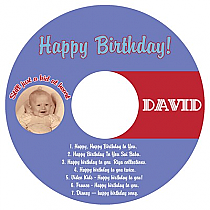 CD Kid Birthday Labels