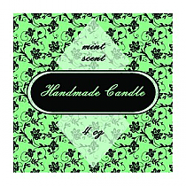 Floral Small Square Candle Labels