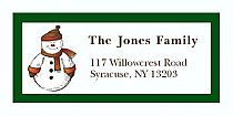 "Snowman Christmas Address Labels 2"" x .875"""