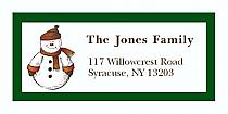 "Snowman Christmas Address Labels 2"" x .875"""