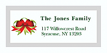 """Red Bow Christmas Address Labels 2"""" x .875"""""""