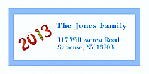 "Twenty Thirteen Christmas Address Labels 2"" x .875"""