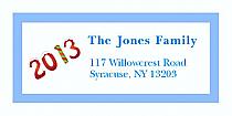 "Twenty Thirteen Christmas Address Labels 2"" x .875"""