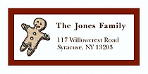 "Gingerbreadman Christmas Address Labels 2"" x .875"""