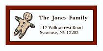 "Gingerbreadman Christmas Address Labels 2"" x .875"""
