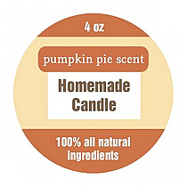 Original Country Small Circle Candle Labels