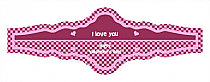Valentines Day Hundred Hearts Fancy Cigar Band Labels
