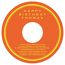 CD Simple Border Birthday Labels
