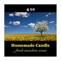 Fresh Meadow Small Square Candle Labels
