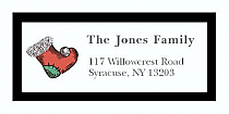 "Custom Stocking Christmas Address Labels 2"" x .875"""